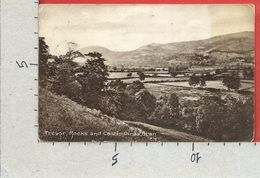 CARTOLINA VG REGNO UNITO - LLANGOLLEN - Trevor Rocks And Castle Dinas Bran  - 9 X 14 - ANN. 1916 - Denbighshire