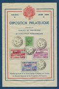 Document, Exposition Philatélique Tunis 1941 ( Série Secours National ) - Tunisie (1888-1955)
