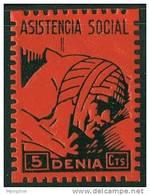DENIA (Alicante) Asistencia Social 5 Cts * - Viñetas De La Guerra Civil