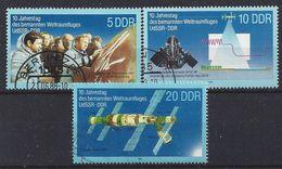 Germany (DDR) 1988  Weltraumfluges UdSSR-DDR (o) Mi.3170-3172 - [6] Democratic Republic