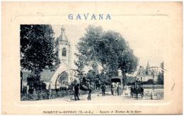 28 NOGENT-le-ROTROU - Square Et Avenue De La Gare - Nogent Le Rotrou