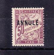 Taxe  50c  Violet  Surcharge Annulé De 1911 - Lehrkurse