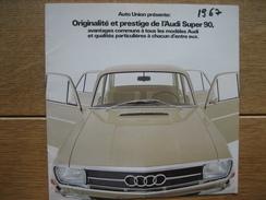 Catalogue Publicitaire De 1967 Automobile AUDI SUPER 90 - 12 Pages - Voitures