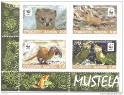 2013. Tajikistan, WWF, Altay Weasel, 4v In Block Perforated, Mint/** - Tajikistan