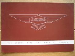 """Dépliant Publicitaire Automobile THE JAGUAR TYPE """"M"""" MARK VII SALOON - 4 PAGES - Publicidad"""