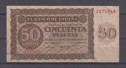 EDIFIL 420a.   50 PTAS 21 DE NOVIEMBRE DE 1936 SERIE J. CONSERVACIÓN MBC - [ 3] 1936-1975: Regime Van Franco