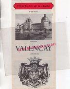 36- VALENCAY-DEPLIANT TOURISTIQUE- TALLEYRAND-CHATEAU -MUSEE AUTOMOBILE CAMILLE ET ANDRE GUIGNARD - Folletos Turísticos