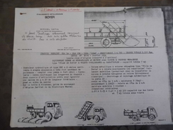 Boyer - Ets Métallurgiques - Création De Benne - Saint Quentin - Carte De Visite - Copie De Benne - Camion - Berliet - Vieux Papiers