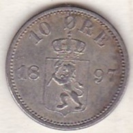 Sweden 10 Öre 1897 . Oscar II. Argent . KM# 755 - Suède
