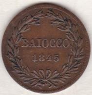 Vatican. Stato Pontificio , BAIOCCO 1845 R (ROMA) Anno XV , GREGORIO XVI - Vatican