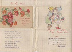 29 MAI 1949 ENCART DOUBLE DE FETE DES MERES COMPOSITION CARTE ET DESSIN D UN ENFANT LEON FROUSTEY - Autres
