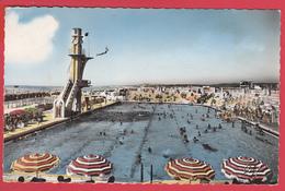 CPSM *62* LE TOUQUET-PARIS-PLAGE -Ann. 1950 * La PISCINE  *Animation TOP* 2 SCANNS Recto/verso - Le Touquet