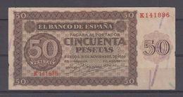 EDIFIL 420a.   50 PTAS 21 DE NOVIEMBRE DE 1936 SERIE K. CONSERVACIÓN MBC - [ 3] 1936-1975 : Régence De Franco