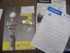 Doc Publicitaire - Cartes De Visite - Metalock- Soudlock - Reparmetal - Valenciennes - Réparation De Moule -Céramic -59 - Old Paper