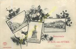 10. Souvenir D' AIX EN OTHE .  CPA Multivues . - France