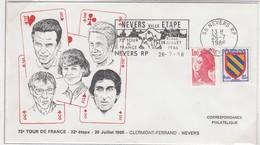 FRANCE - 73e TOUR DE FRANCE 1986 - ETAPE CLERMONT-FERRAND NEVERS - FLAMME TEMPORAIRE NEVERS 26.7.86 /4 - Wielrennen