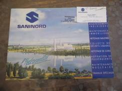 Doc Publicitaire - Cartes De Visite -SANINORD - CAMBRAI - 59 - - Old Paper