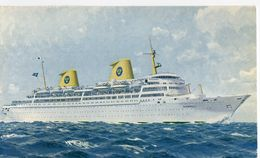 The Deluxe Maritimer Kungsholm. Posted On Board - Ferries