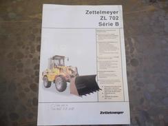 Document Publicitaire - Zettelmeter - ZL 702 Série B - Travaux Public - Chargeur à Pneus - Old Paper