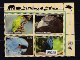 """ONU (VIENNA) 2011: 4 Valori In Blocco MNH/** """"Protezione Della Natura. 19^ Serie"""". - Blocchi & Foglietti"""