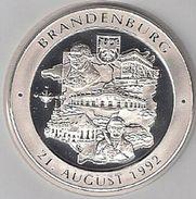 """999/1000 Silber Medaille """" Brandenburg  """" PP   36 Mm DMR Rohgewicht : 14 G Prägung : Hochrelief - Pièces écrasées (Elongated Coins)"""