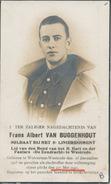 Doodsprentje WOII - Gesneuveld Frans Albert VAN BUGGENHOUT ° Wolvertem-Westrode 1915 + 27 Mei 1940 (klevertje !!) - Religion & Esotérisme