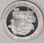 """999/1000 Silber Medaille """" Nordrhein-Westfalen  """" PP   36 Mm DMR Rohgewicht : 14 G Prägung : Hochrelief - Pièces écrasées (Elongated Coins)"""