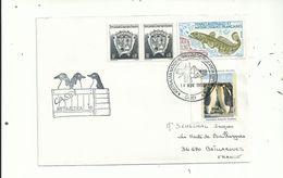 1L Avec Timbres Français Des T A A F Et Timbre Des Territoires Antartiques Australiens...14 Nov 1993........... - Australian Antarctic Territory (AAT)