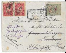 TURQUIE - 1916 - ENVELOPPE De PERA Avec CENSURE (VOIR DOS) => NEUSTADT (GERMANY) REEXPEDIEE - Covers & Documents