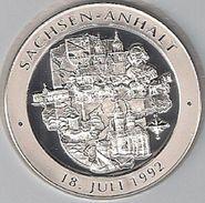 "999/1000 Silber Medaille "" Sachsen-Anhalt   "" PP   36 Mm DMR Rohgewicht : 14 G Prägung : Hochrelief - Pièces écrasées (Elongated Coins)"