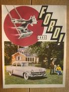 Dépliant Publicitaire De 1953 FORD - MERCURY - LINCOLN - TAUNUS 12-M - VEDETTE - ZEPHYR SIX - CONSUL - Publicités