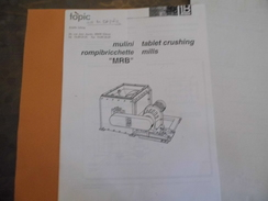 Document -carte De Visite - Devis - TOPIC  - 38610 Gières - Broyeur & Tamis - Céramique - - Vieux Papiers