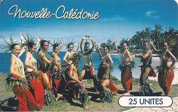 CARTE-PUCE°-NOUVELLE-CALEDONIE-25U-GEM B-NC56-MOENAU-GROUPE DANCE-UTILISE-TBE - New Caledonia