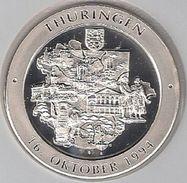 "999/1000 Silber Medaille "" Thüringen    "" PP   36 Mm DMR Rohgewicht : 14 G Prägung : Hochrelief - Souvenirmunten (elongated Coins)"