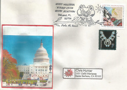 USA: Washington, The Nation's Capital, Sur Lettre De Floride Adressée En Californie - Monuments