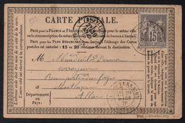 LA SOUTERRAINE - CREUSE / 1878 CARTE PRECURSEUR POUR MONTLUCON (ref LE1620) - Ganzsachen
