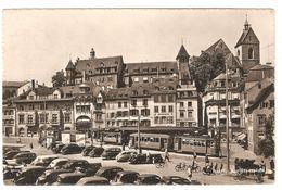 Basel - Barfüsserplatz - Tram / Tramwy - Classic Cars - Bar Café Kaffee Rio - Animiert - BS Basle-Town
