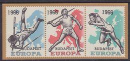 Belgium 1966 European Athletic Championships Budapest M/s Ovptd ** Mnh (37079) - European Ideas