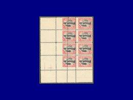 BOLIVIE  Yvert:106, Bloc De 8 Cdf, Piquage Vertical Totalement Déplacé, Double Sur 4 Timbres: 2c. Titicaca      - Qualit - Bolivia