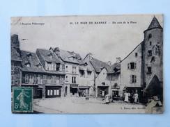 C.P.A. 12 LE MUR DE BARREZ : Un Coin De La Place, Animé, En 1907, PLAN RARE - France
