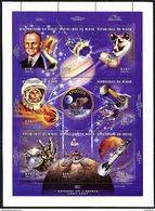 NIGER 1997, Espace Glenn Chienne Laïka White Vostok 6 Gemini..., Feuilet 8 Valeurs, Neuf / Mint. R416 - Space