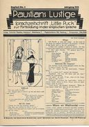 Revues Paustians Lustige 1922 4 Numéros  N°5 -6 -7 - 8 - Crafts