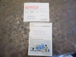 Livret & Carte De Visite BIEVRELEC - Télémécanique - électricité - Lille -59 - - Vieux Papiers
