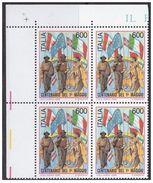 REPUBBLICA 1990, Centenario Del 1º Maggio Sass. 1933 Serie Cpl. 1v. In Quartine Nuovi** - 6. 1946-.. Republik