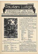 Revues Paustians Lustige 1922   3 Numéros  N° 9- 10 (11 - Loisirs Créatifs