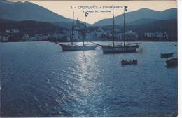 3 POSTAL CADAQUES DE FONDEJADERO (L. ROISIN) (GIRONA-GERONA) BARCO-SHIP - Gerona