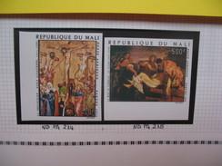 Timbre Non Dentelé   N° PA 214 à 215  Pâques   1974 - Mali (1959-...)