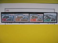 Timbre Non Dentelé   N° PA 224 à 227 Locomotives à Vapeur   1974 - Mali (1959-...)