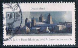 2016  1200 Jahre Benediktinerabtei Münsterschwarzach - Used Stamps