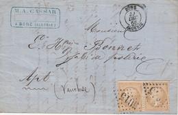 Algérie Lettre De Bône Pour La France 1866 - Marcophilie (Lettres)